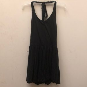 Juicy couture black fit and flare dress